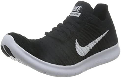 Nike Women's Free Running Motion Flyknit Shoes, Black/White - 11.5 B(M) US