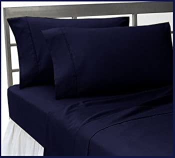 Set of 2 Standard Size 1500 Thread Count Egyptian Quality PILLOWCASES, NAVY BLUE