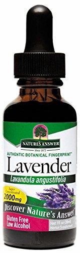 Lavender Flower Organic Alcohol - Nature's Answer Lavender Flower with Organic Alcohol, 1-Fluid Ounce