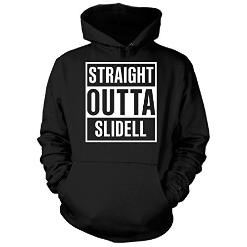 Straight Outta Slidell City Cool Gift - Hoodie Black (City Of Slidell)