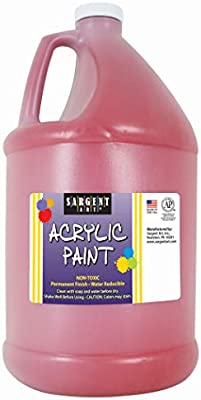 Amazon Com Sargent Art Half Gallon Acrylic Paint Red 64 Ounce 1 2 Gallon 22 2720