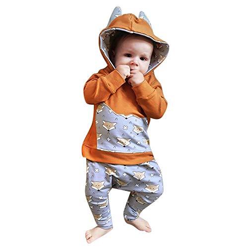 Mommy Twin Dolls Little (Keliay Bargain Toddler Infant Baby Boy Hoodie Cartoon Ears Fox Sweatshirt Tops Pants Cloth Sets)