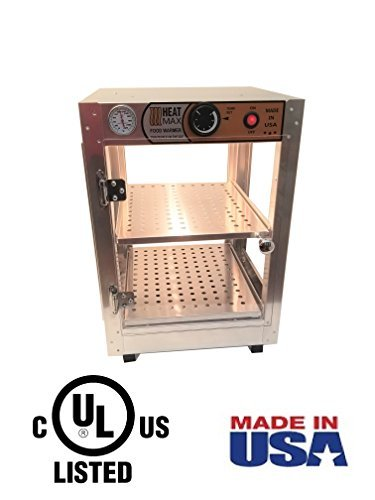HeatMax 14x14x20 Commercial Food Warmer, Pizza, Pastry, Patty, Empanada, Hot Food, Concession, Convenience Store, Fund Raising, Display Case