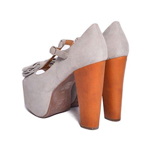 Jeffrey Campbell - Zapatos de vestir de ante para mujer Gris gris luminoso (ral 7035) 36
