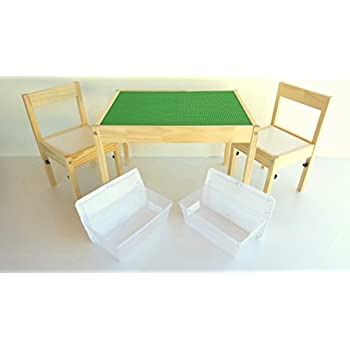 Lovely Special Edition LEGO Table   LEGO Compatible Ikea Childrens Table And Chairs  Set With Storage