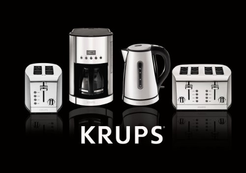 KRUPS Coffee Brushed and Steel Housing, 12-Cup, Silver
