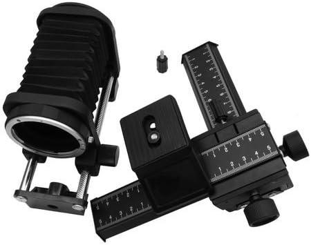 Fotga Macro Lens Bellows and 4-Way Close-up Focusing Slide Rail for Nikon F Mount Camera D90 D80 D70 D70s D60 D50 D40 D40x D7100 D7000 D5300 D5200 D5100 D5000 D3400 D3300 D3200 D810 D800 AL SLR Camera