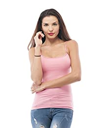 Cami Camisole Built in Shelf BRA Adjustable Spaghetti Strap Tank Top Plus Size