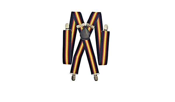 Anchura 35 mm. Ajustables LIRIO Tirantes Bandera de Espa/ña sobre fondo azul marino
