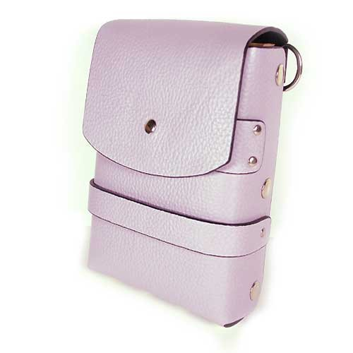 Scissors Shears Leather Cosmetic Tools Combs Carring Holster Case Bag Light Purple (Leather Carring Case)