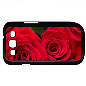 Red Roses (Flowers Series) Watercolor style - Case Cover For Samsung Galaxy S3 i9300 (Black)