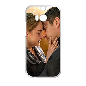 Divergent 2014 Beatrice Pryor Tobias Eaton Shayleen Woodley Theo James funda HTC One M8 caja funda del teléfono celular del teléfono celular blanco cubierta de la caja funda EVAXLKNBC22305