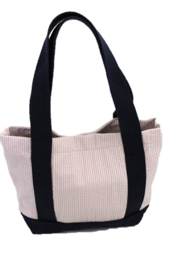 Thomas Bates Charleston Seersucker Tote (Small, Pink)