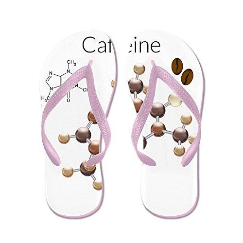 Price comparison product image Royal Lion Kid's Caffeine Lover 3D Atomic Structure Pink Rubber Flip Flops Sandals 1-4