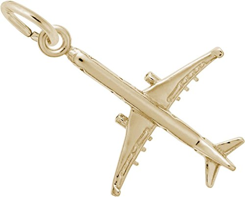 Rembrandt Airplane Charm - Metal - 14K Yellow ()