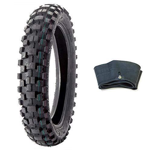 MMG Bundle Combo Tire and Inner Tube Size 120/90-19 Inner Tube TR4 Valve Stem, Motorcycle Off Road Knobby