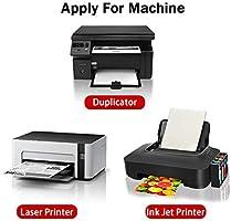65 hojas Glossy Sticker Paper, A4 autoadhesivo Sticker etiqueta de papel para impresoras láser y de inyección por Hapree (65 hojas): Amazon.es: Hogar