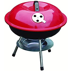 HambleBB-BBQ201  Redwood Leisure 14-inch Portable Barbecue – Red