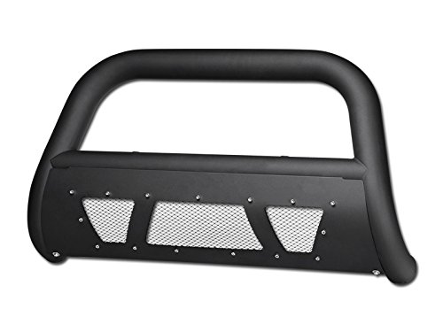 HS Power Matte Black Studded Laser Mesh HD Bull Bar for 88-00 Chevy GMC C10 Truck/SUV C/K 1500/2500 / 3500, 88-98 Silverado, 92-99 Suburban, 92-94 Blazer, 95-99 Tahoe Models Brush Push Bumper Guard ()