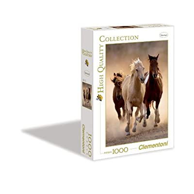 Clementoni 39168 High Quality Collection Puzzle Running Horses 1000 Pezzi