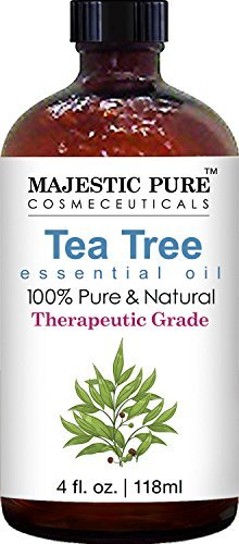 Majestic Pure Therapeutic Melaleuca Alternifolia Tea Tree Oil With Dropper, 4 fl. Oz (Spot It Online)
