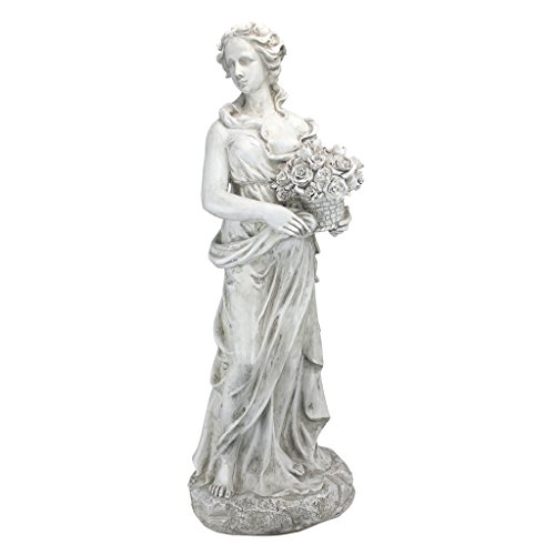 Design Toscano AL53275 Spring Goddess of The Four Seasons Statue, Ancient Ivory