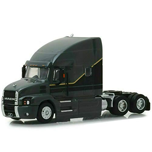 2019 Mack Anthem Highway Long Haul Truck Cab Gray with Black and Gold Stripes S.D. Trucks Series 6 1/64 Diecast Model by Greenlight 45060 - Sd Series