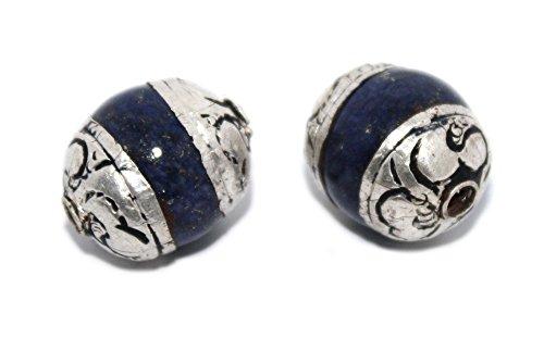 Tibet Silver Coral Bead - Handmade Beads Nepalese Beads Tibetan Beads Silver Beads Boho Beads B266