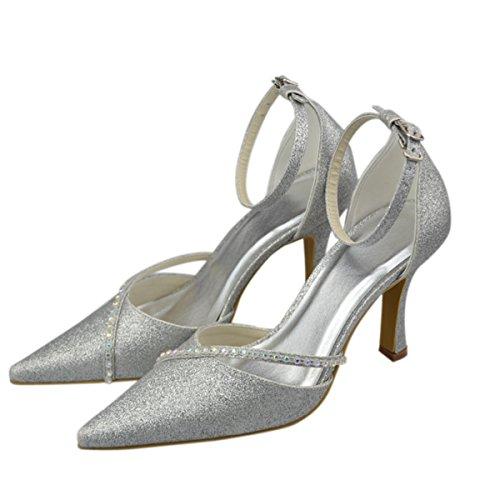 Minitoo , Damen Knöchel-Riemchen , Silber - silber - Größe: 41