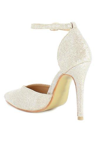 Go Tendance - Zapatos de vestir para mujer dorado - Doré