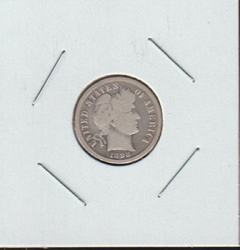 1898 Barber or Liberty Head (1892-1916) Dime Very Good