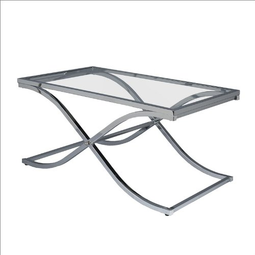 Southern Enterprises Mateo Cocktail Table in Chrome