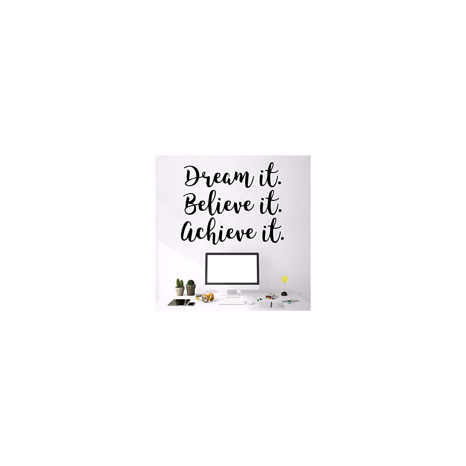 Wall Stickers, Wall Decals, Wall Paintings, Wall Tattoos, Wall Posters,Creative Dream Text Vinyl Wallpaper Roll Furniture Decorative PVC Wall Decals Art Decoration DIY Home Decor