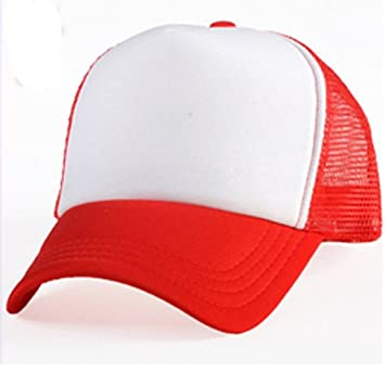 Red Sublimation Baseball Cap  Amazon.co.uk  Kitchen   Home 971dec42c5f
