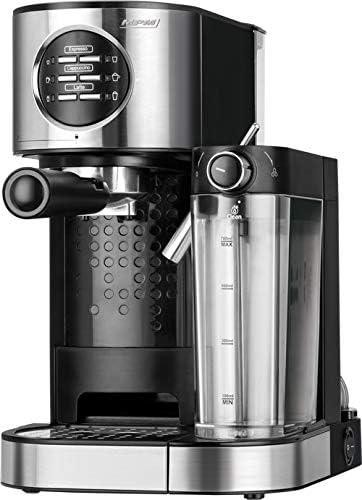 MPM MKW-07M Cafetera Express 15 Bares, para Realizar café Espresso y Cappuccino, depósito Calentar Leche 0,7 litros, calienta Tazas,Acabado Acero Inoxidable, depósito de Agua 1,2 L Desmontable, 1470W: Amazon.es: Hogar