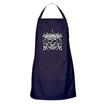 Amazon Com Apron Dark Tribal Skull Clothing