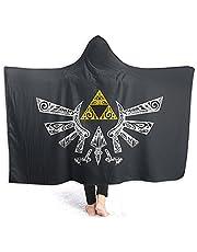 Filt med huva vuxen Zel-Da H-Yrule emblem filtar för kvinnor män flanell filt vinter mjuk spelfilt för hem soffa sovrum sängkläder