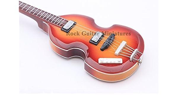 RGM84 Paul McCartney THE BEATLES Violin Bass Guitarra en miñatura ...