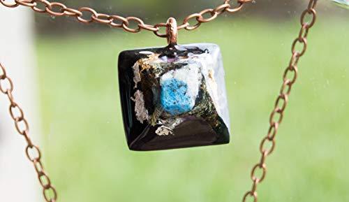 ORGONITE K2 Mount Chogori Pendant with Axinite, Herkimer Diamond, Tourmaline - EMF Necklace -528hz / Solfeggio healing frequencies attuned