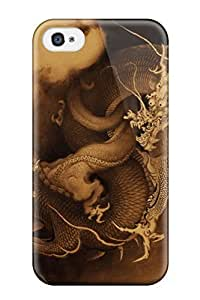 For Iphone 4/4s Tpu Phone Case Cover(chinese Dragon)