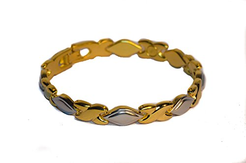 Magnetic Link Bracelet Beautiful Rain drop Criss Cross Design ()