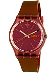 Swatch Womens Sneaky Peaky GP701 Multicolor Rubber Swiss Quartz Watch