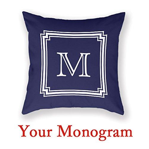 - AntoniaDay Custom Monogram pillow Color Colour Decorative Pillows 18 X 18 Monogram Custom Picture Pillow Monogrammed Throw Pillows 18 X 18 Personalized Pillow Cases