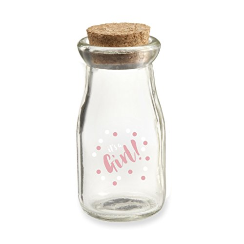 Aspen Girl (Kate Aspen GRL2 It's a Girl Milk Jar (Set of 12) Favor, Clear)
