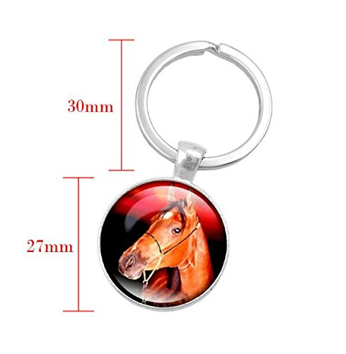 Amazon.com   Fashion Silver Color Key Chain Horse Head Art Glass Key Ring  Keychain Handcrafted Jewelry Key Ring for Women Gift Keyring   Office  Products badf6ff65afe