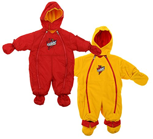 Mighty Mac Iowa State Cyclones NCAA Baby Boys Hooded Reversible Snowsuit, Red/Gold ()