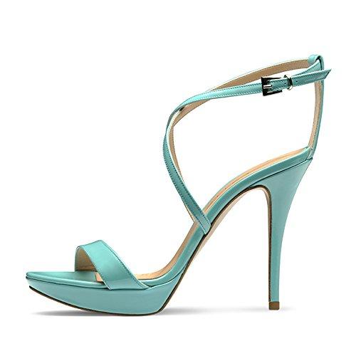 Evita Shoes Valeria Damen Sandalette Lack Türkis