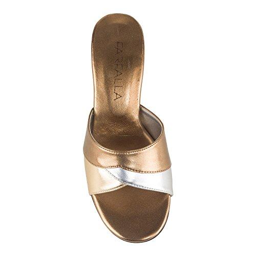 FARFALLA - Zapatos con tacón mujer Marrón - bronce claro