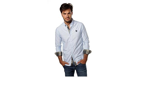 Valecuatro Camisa H CLÁSICA, Celeste, M para Hombre: Amazon ...