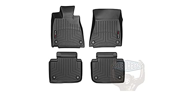 Black Includes 1st and 2nd Row 2013-2015 Toyota Avalon-Weathertech Floor Liners-Full Set